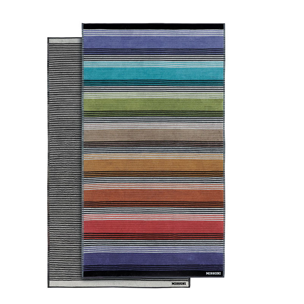 top by design  missoni home  missoni home ross beach towel  - ross  beach towel front and back