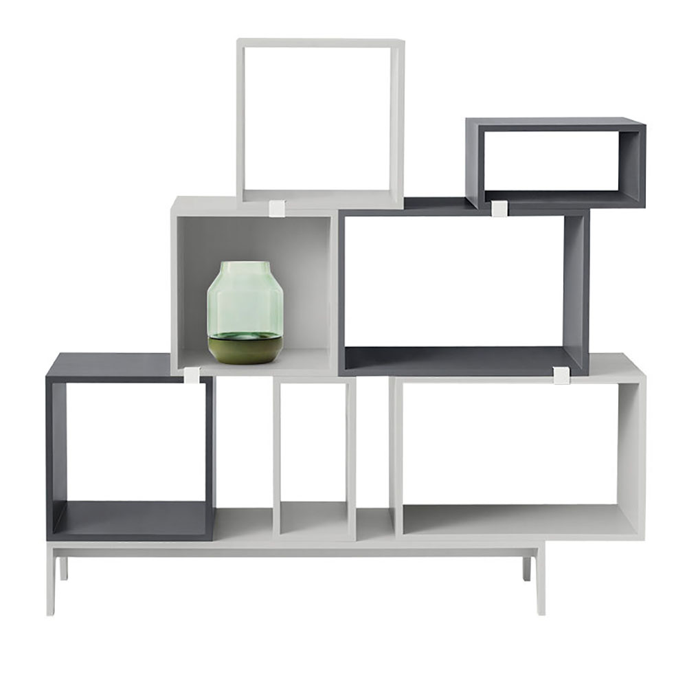top3 by design muuto new nordic muuto stacked shelf open dark grey l. Black Bedroom Furniture Sets. Home Design Ideas