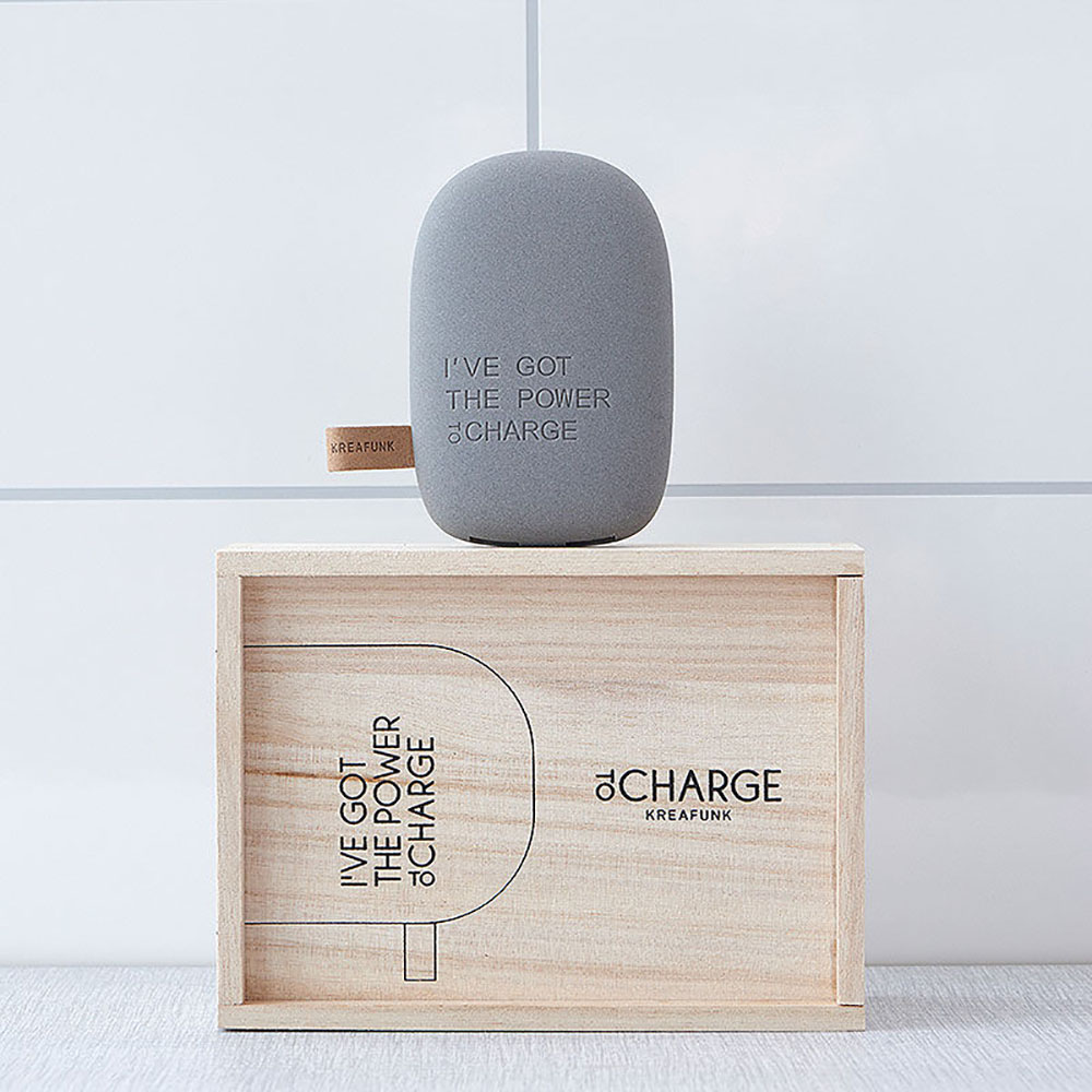 top3 by design kreafunk tocharge portable pebblegry3dc. Black Bedroom Furniture Sets. Home Design Ideas