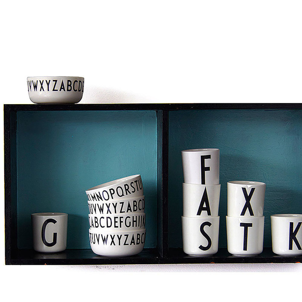 Top3 by design design letters aj porcelain bowl a z for Kitchen set letter l
