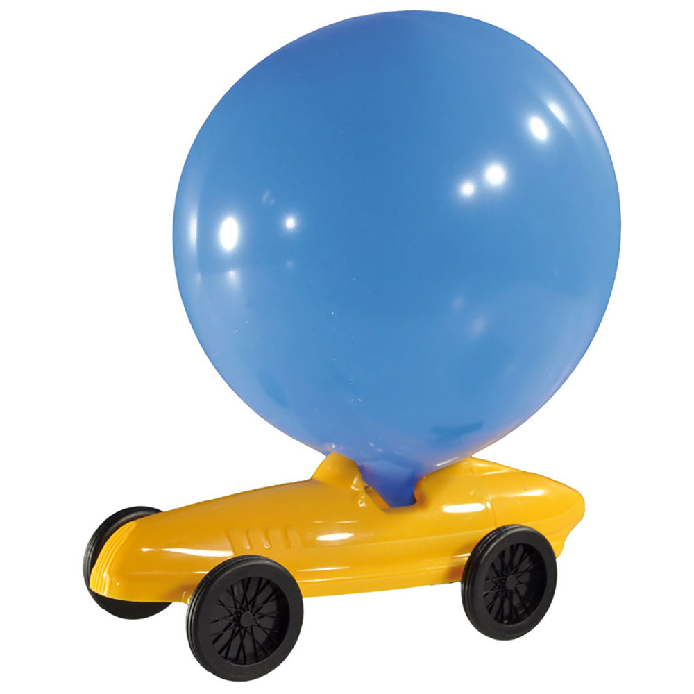 Top3 By Design Dieters Holzpielzeug Balloon Car Yellow