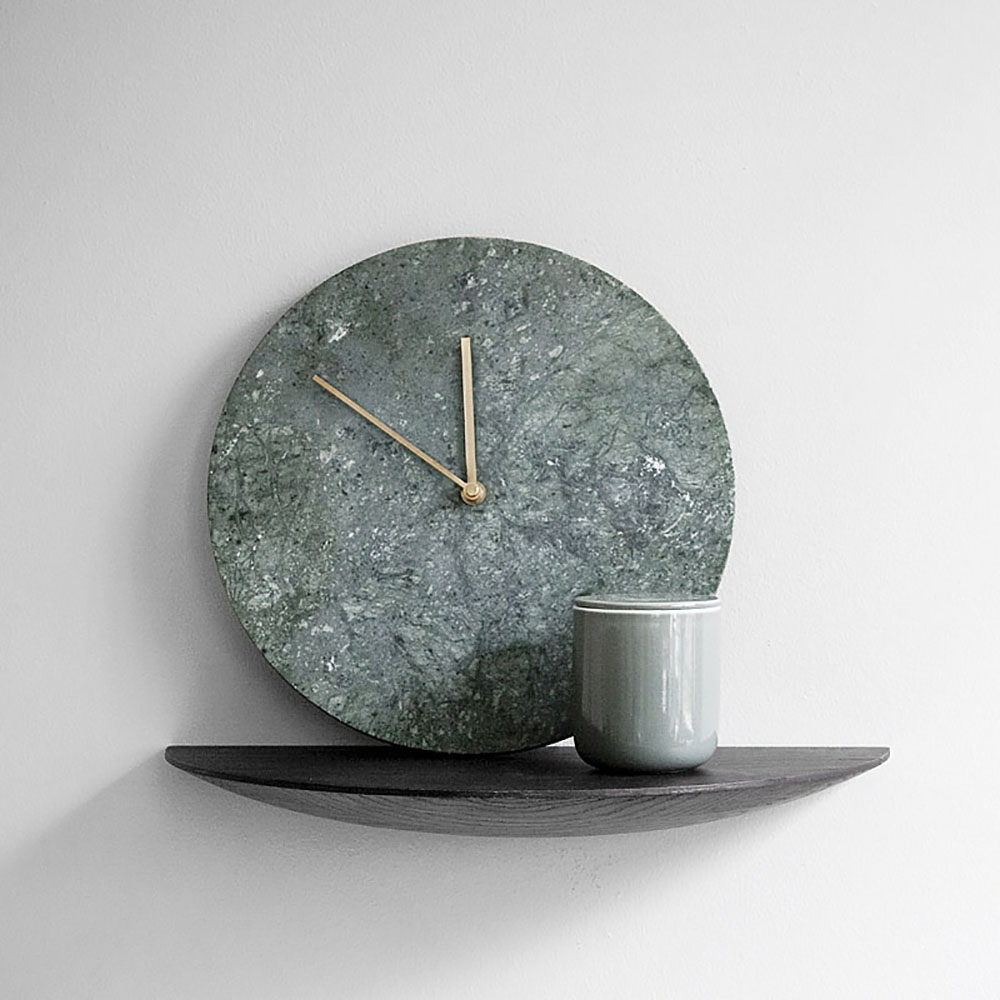 Top3 By Design Menu Marble Wall Clock Green