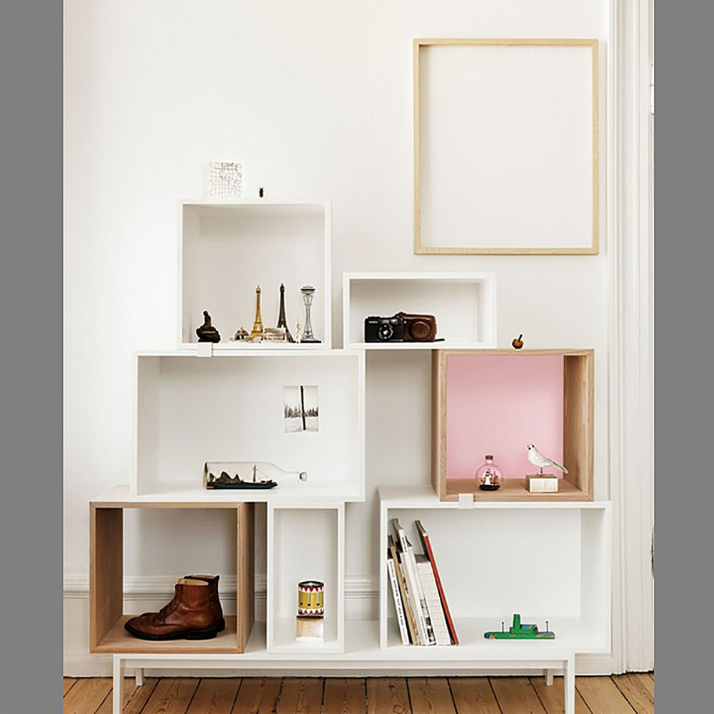 top3 by design muuto new nordic muuto stacked shelf open white l. Black Bedroom Furniture Sets. Home Design Ideas