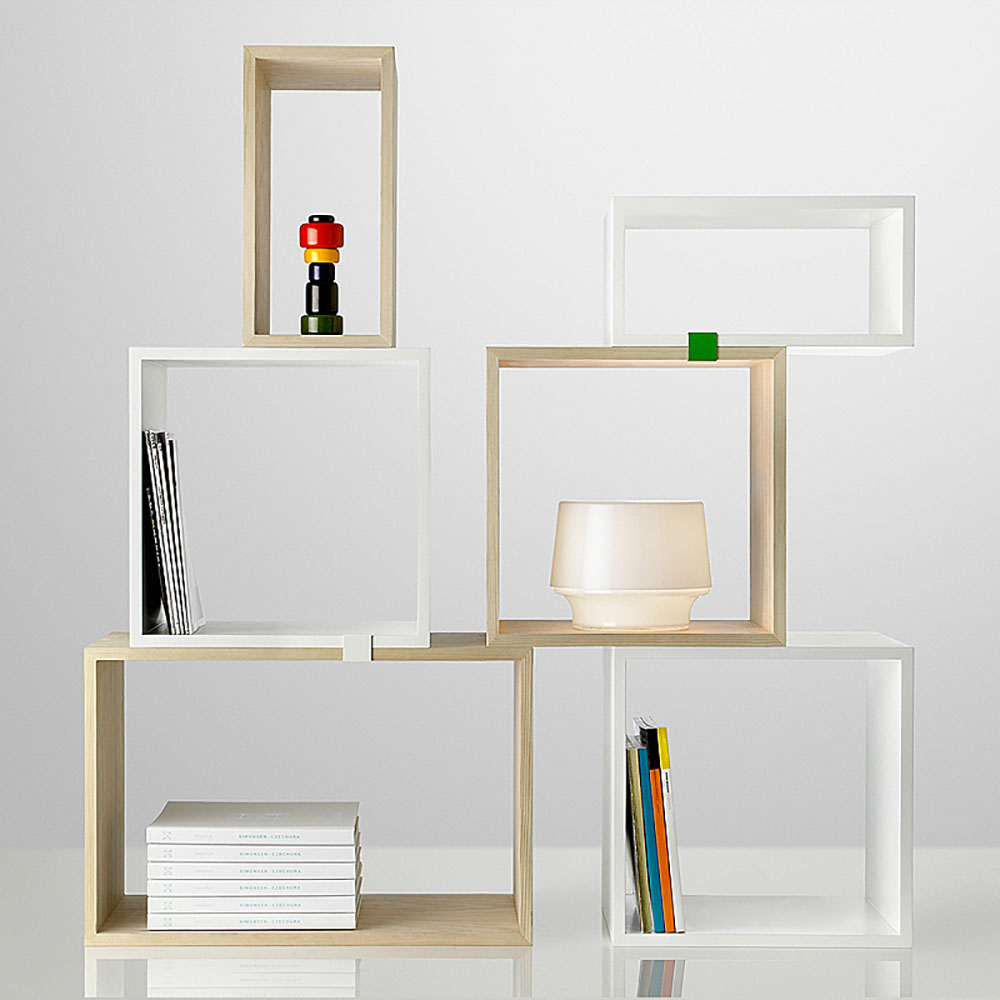 top3 by design muuto new nordic muuto stacked shelf open white s. Black Bedroom Furniture Sets. Home Design Ideas
