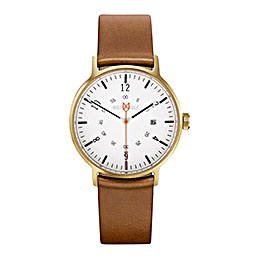 mister wolf watch model 367 tan gold 1000