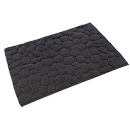 Top3 By Design Ottaipnu Bath Mat Ishikoro Stones Black