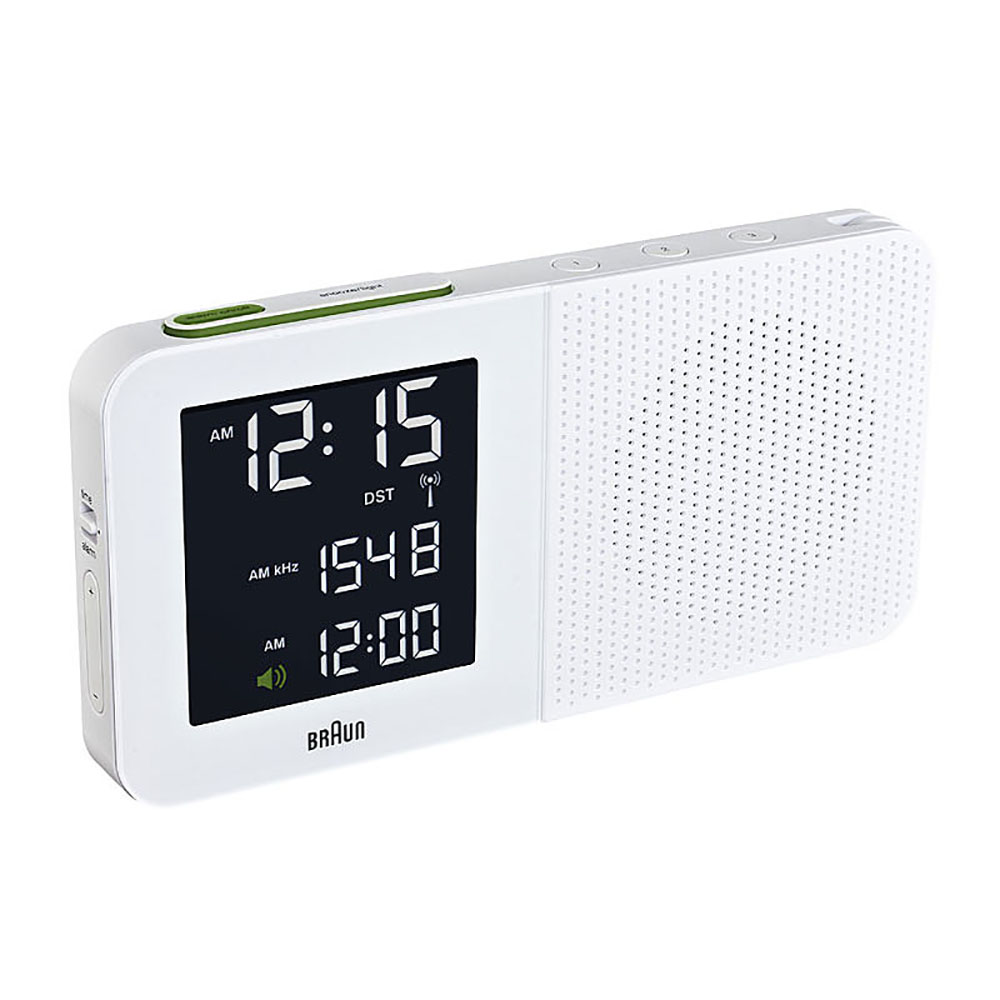 top3 by design braun braun radio alarm clock lt wht. Black Bedroom Furniture Sets. Home Design Ideas