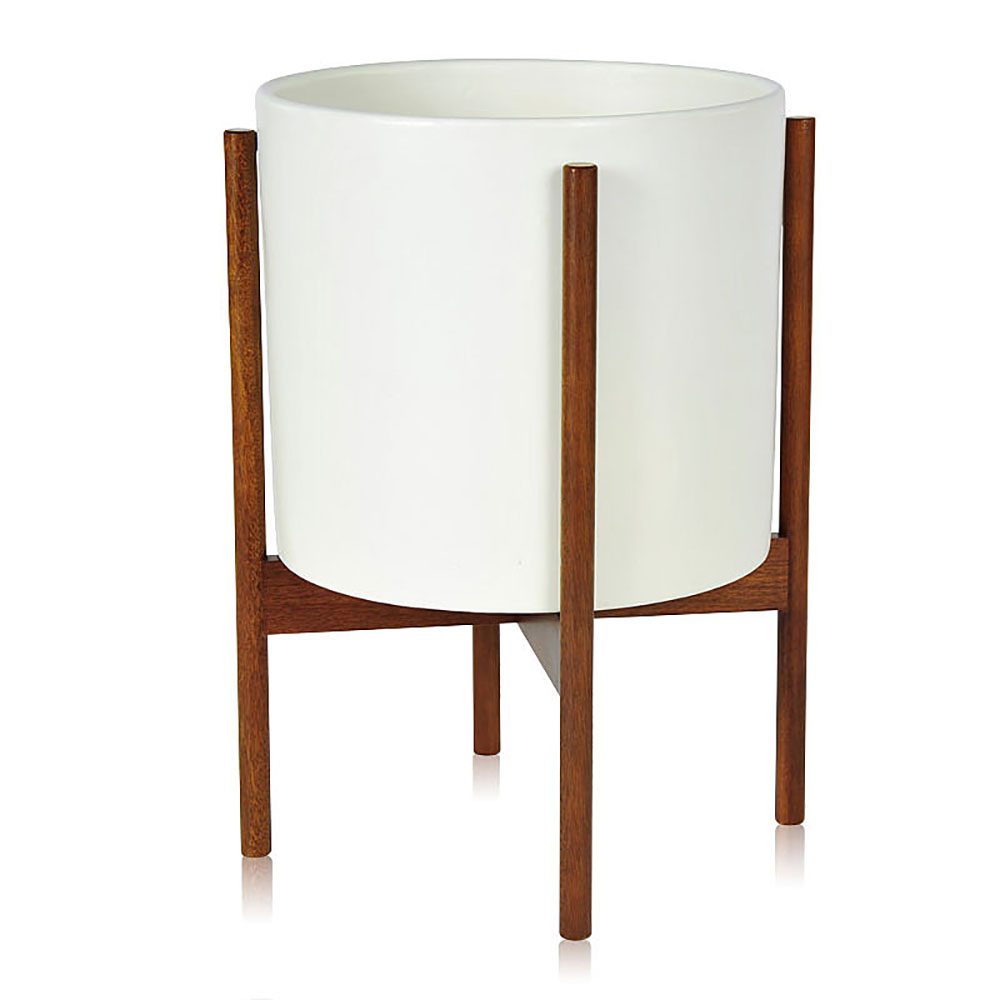 Top3 By Design Modernica Cs Cylinder Wood Legs L White