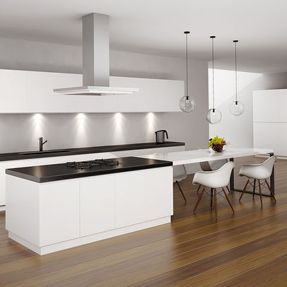 Black White Timber Kitchen