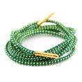 Bondi Laces - green and gold