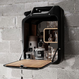 Danish Fuel Bar Cabinet - black