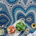 Basil Bangs Table Cloth - blue