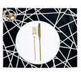 Basil Bangs Table Mats - black and white