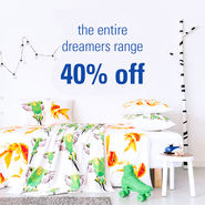 DREAMERS ENTIRE RANGE 40% off news from top3 by design