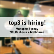 Top3 is hiring in Sydney + Canberra + Melbourne news from top3 by design
